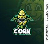 corn mascot logo design vector... | Shutterstock .eps vector #1963027501