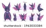 flying bat. cartoon wild...   Shutterstock .eps vector #1963033384