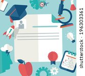 vector education and science...   Shutterstock .eps vector #196303361