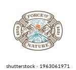 logo badge of mountain river...   Shutterstock .eps vector #1963061971