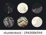 set of luxury natural textures. ... | Shutterstock .eps vector #1963086544