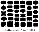 set of different labels... | Shutterstock .eps vector #196310381