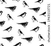 ink brushstroke bird vector... | Shutterstock .eps vector #1963113721