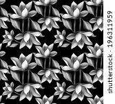 elegant floral seamless pattern ... | Shutterstock . vector #196311959
