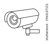 surveillance camera or wireless ... | Shutterstock .eps vector #1963137121