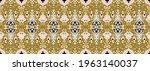 ikat geometric folklore... | Shutterstock .eps vector #1963140037