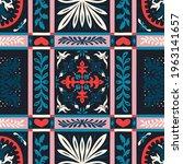 bandana print. vector seamless... | Shutterstock .eps vector #1963141657