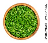 chopped parsley  in a wooden...   Shutterstock . vector #1963144837