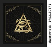 horus eye  the god of ancient...   Shutterstock .eps vector #1963157671