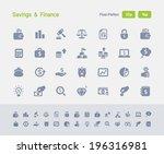 savings   finance icons.... | Shutterstock .eps vector #196316981