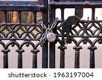 Padlock And Strong Steel Chain...