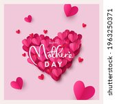 happy mothers day greeting card ... | Shutterstock .eps vector #1963250371