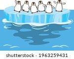 image illustration of penguins... | Shutterstock .eps vector #1963259431