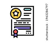 contract bonus color icon...   Shutterstock .eps vector #1963286797