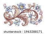flower vintage scroll baroque... | Shutterstock .eps vector #1963288171