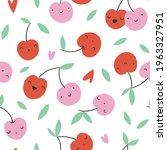 cute cherry seamless pattern.... | Shutterstock .eps vector #1963327951