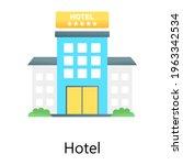 hotel flat gradient concept...   Shutterstock .eps vector #1963342534