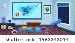 playroom with telescope and... | Shutterstock .eps vector #1963343014