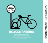 Bicycle Parking Sign Vector...
