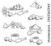hand drawn asafoetida hing ....   Shutterstock .eps vector #1963362964