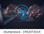 6g network digital hologram and ...   Shutterstock . vector #1963373314