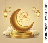 eid mubarak and ramadan kareem... | Shutterstock .eps vector #1963374484