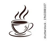 coffee cup icon. hot coffee... | Shutterstock .eps vector #1963388107