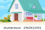 suburban house building view ...   Shutterstock .eps vector #1963412431