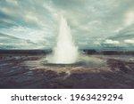 Strokkur Geyser  Iceland....
