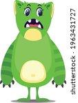 funny monster cartoon vector... | Shutterstock .eps vector #1963431727