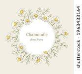 chamomile flowers round frame ... | Shutterstock .eps vector #1963433164
