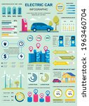 electric car banner with... | Shutterstock .eps vector #1963460704