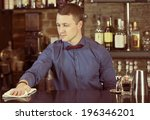young man working as a... | Shutterstock . vector #196346201