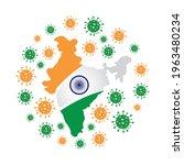 coronavirus in india banner... | Shutterstock .eps vector #1963480234