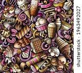 cartoon doodles ice cream... | Shutterstock .eps vector #1963492027