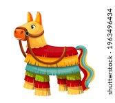 pinata vector icon  mexican...   Shutterstock .eps vector #1963496434