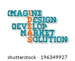 typographic business ideas... | Shutterstock .eps vector #196349927