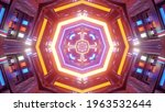 Octagon Shaped Colorful Tunnel...