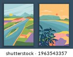abstract coloful landscape... | Shutterstock .eps vector #1963543357