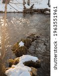 Winter Landscape Of A River...