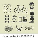 hipster style elements | Shutterstock .eps vector #196355519
