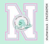 retro college varsity font...   Shutterstock .eps vector #1963560904
