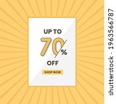up to 70  off sales offer.... | Shutterstock .eps vector #1963566787