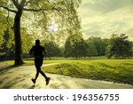evening runner in london green... | Shutterstock . vector #196356755