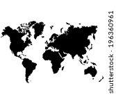world map   vector illustration | Shutterstock .eps vector #196360961