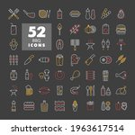 barbecue and bbq grill icon set ...