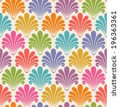seamless pattern with color... | Shutterstock . vector #196363361