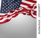 closeup of american flag on... | Shutterstock . vector #196363697