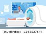 cartoon doctor man character...   Shutterstock .eps vector #1963637644