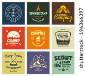 set of retro vintage camp... | Shutterstock .eps vector #196366397